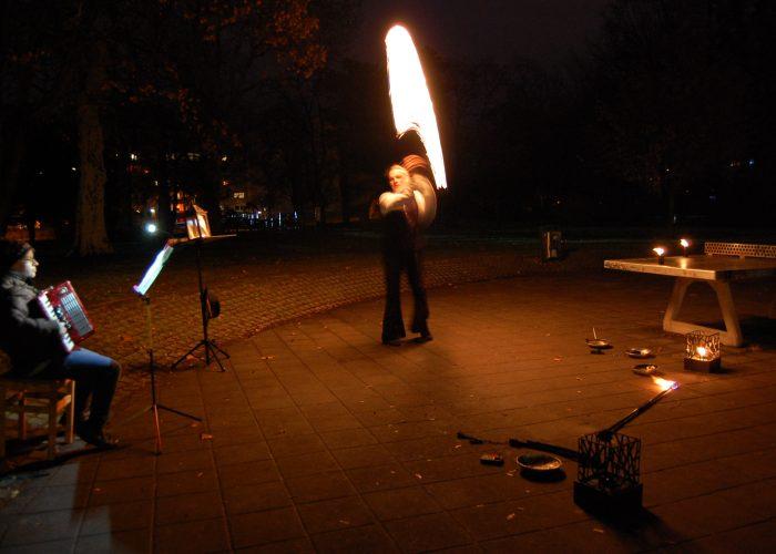 Feuershows: Der Wandersmann